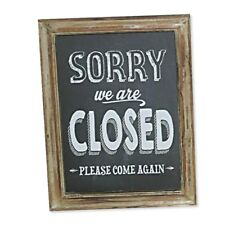 Wood Framed Closed Sign - Blackboard Chalk Look Sorry Sign Shop Door Retail