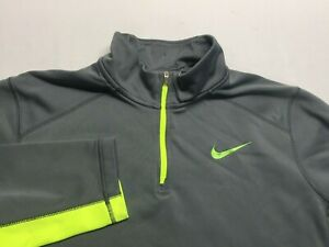 Nike Men's Therma-Fit 1/4 Zip Mock Pullover Gray men's size large L