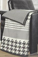 biberna Baumwolle Dralon Wohndecke Kuscheldecke Streifen Muster grau 150x200