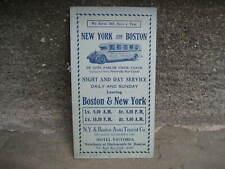 1926 Ny & Boston Auto Tourist Co. Schedule & Map