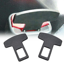 1pcs Aluminum Car Safety Seat Belt Buckle Alarm Stopper Eliminator Clip Black