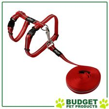 Rogz Alleycat Harness & Lead Set For Cats Red Small