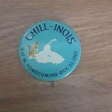 1962 University Of Minnesota Golden Gophers Homecoming Illinois Pinback Button
