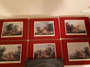 Vintage pimpernell cottages The National Trust Placemats Cork Back  X 6