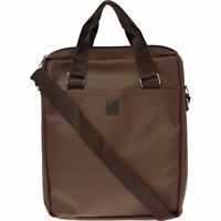 TRUSSARDI Men's Dark Brown Saffiano Leather Messenger Bag