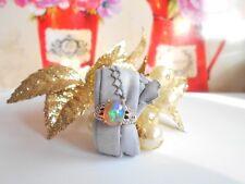 Juwelo Silberring Opal Zirkon Ring 925 Sterl. Silber Vergoldet Zertifikat 54 NEU