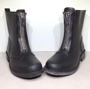 Frye Storm Women's Size 6M Black Waterproof Combat Zip Rain Booties XF3-51*