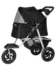 pet stroller cat dog 3 wheel