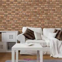 Brick Effect Tile Stickers Home Decor Kitchen Bathroom Wall Decal DIY