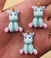 DIY 5-25PCS Unicorn charms 32x23mm Flatback Resin Cabochon Scrapbooking//Crafts