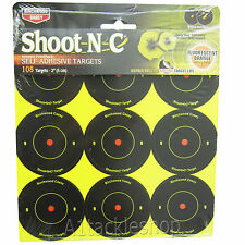 "Birchwood Casey 2"" Shoot-N-C Stick on Targets (108 pack)  For Air Rifle Pistol"