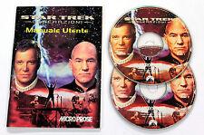 Gioco PC STAR TREK GENERAZIONI 1997 Microprose 2 CD-ROM ITALIANO USATO