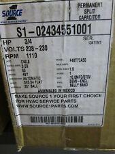Source 1 S1-02434551001 Condenser Motor 1 Speed W/Rain Shield 3/4 HP 208/230 V