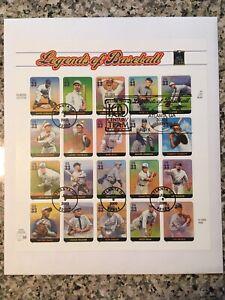 U.S.P.S./33c Baseball Legends/Sheet of 20/ First Day Cover/7-6-2000/Atlanta,GA