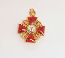 Imperial Russia, Order of St Anna miniature medal, gold, russian, St Anne