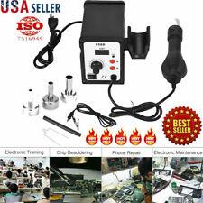 LED 858D 700W Electric Hot Air Heat Gun Soldering Station Desoldering Tool USA