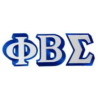 """Phi Beta Sigma Fraternity 3-Letter Set 3"""" Tall Embroidered Appliqué Patches"""