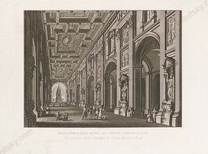 """Basilica di S.Giovanni Laterano in Rome"", Engraving, Early 19th Century"
