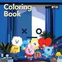 BT21 Coloring Book BTS Character Line Friends Hobby Korea Idol Illust_NK
