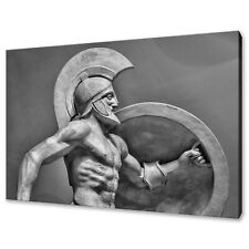 ANCIENT GREEK SCULPTURE OF WARRIOR CANVAS PRINT WALL ART PICTURE
