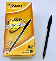 Economy Medium Boîte de 50 stylos Ball pens black BIC 10246