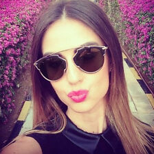 So Real Black Gold Sunglasses Men Women Designer Retro Vintage Fashion