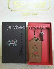 COACH 56626 Disney Mickey Mouse Hangtag Key Fob Key Chain Charm Saddle Box
