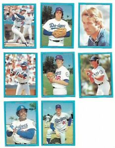 1982 Topps Stickers - LOS ANGELES DODGERS Team Set