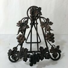 Metal Easel Stand Cookbook Art Grapes And Leaves Folds