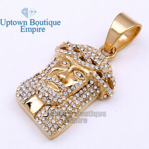 Men's Stainless Steel classic Gold Silver Jesus Head Piece Face Pendant*AA
