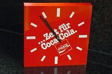 70er 80er Coca Cola Kioskuhr Werbung Quarz Analog Küchenuhr