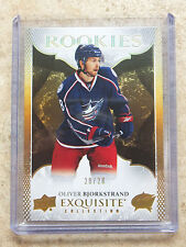 16-17 UD Exquisite Collection True Rookies RC #R-2 OLIVER BJORKSTRAND /28