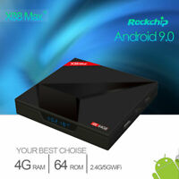 Smart TV Box 64G X88 MAX Android 9.0 Quad Core 4K HD 5.8GHz WiFi Media Player