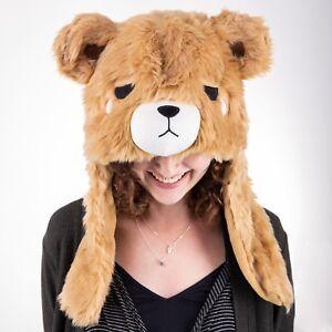 SMOKO Boba Bear Hoodie Brown Animal Ear Flaps Paws Cosplay Men Women