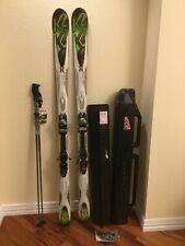 K2 Rictor All Terrain Rocker Skis with K2 Poles and Sportube Carrier (New)