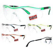 SA106 Mens Clear Lens Adjustable Arm UV Protection Rimless Warp Safety Glasses