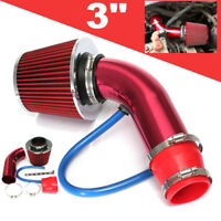 """Car 3"""" Cold Air Intake Filter Alumimum Induction Kit Pipe Hose System Universal"""