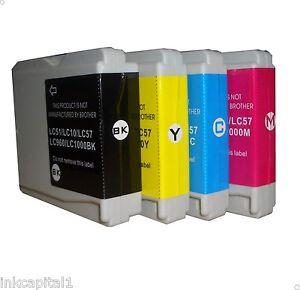 4 x Inkjet Cartridges Non-OEM Alternative For Brother LC970 - 1 Set Multi Pack