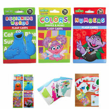 3 Sesame Street Flash Card Beginning Words Numbers Colors Shape Learning Kid Fun