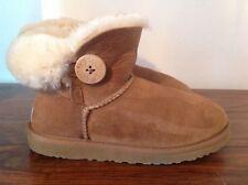 Ugg Mini Bailey Button Boots  Chestnut Size UK 4.5 EU 37 US 6