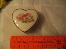 Vintage Heart shaped porcelain trinket box made in West Germany exc cond L00k