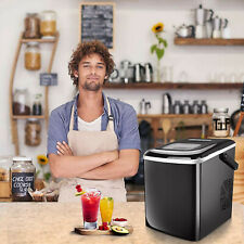 Portable Ice Maker Machine Countertop 26Lbs/24H For Home Parties Mixed Drinks Us