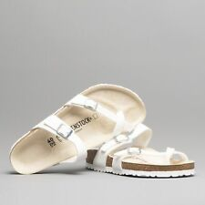Birkenstock MAYARI 071051 Regular Fitting Ladies Toe Strap Buckle Sandals White