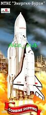 Amodel 72026 Space Rocket Energia with Buran Shuttle Plastic Model Kit 1/72