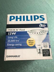 Philips 13PAR38/F36 2700 DIM AF RO Dimmable PAR38 LED Lamp Light - Brand New