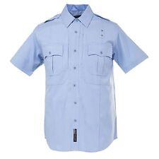 Women's 5.11 TACTICAL Taclite PDU Uniform Short Sleeve Shirt ~ Navy Blue White