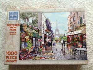 WH Smith City Breaks Postcard from Paris 1000 Piece Jigsaw - Paris in Bloom