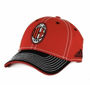 Adidas AC Milan Italy Serie A Soccer Pro Shape Red Hat Adult NEW!