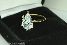 5.00 PEAR SHAPE ENGAGEMENT RING 14 KARAT Yellow Gold