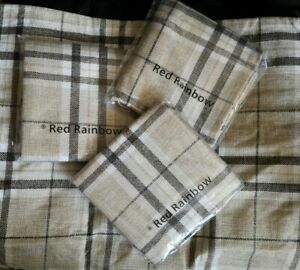"""'Red Rainbow' Tartan Polyester Large Single Cushion Cover - Brown  (22"""" X 22"""")"""